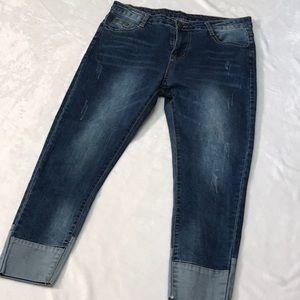 Denim - High Rise Skinny Jeans. Sz. L